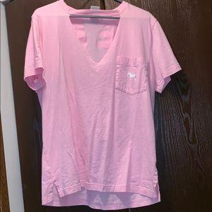 Victoria Secret Pink V Neck Shirt